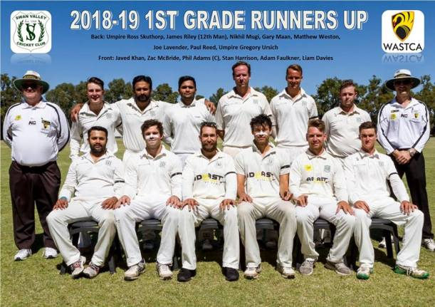 SVCC 1st Grade Runners Up 2018-19