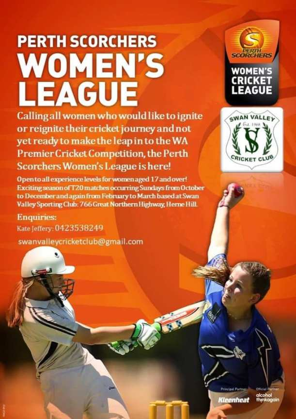 Perth Scorchers Womens League SVCC Poster